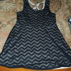 Candie's Chevron pattern mini skater dress